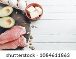 concept of ketogenic diet.... | Shutterstock . vector #1084611863
