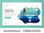 landing page design with... | Shutterstock .eps vector #1084613363