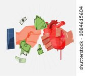 organ trade. exchanging human... | Shutterstock .eps vector #1084615604