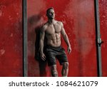 attractive and muscular young...   Shutterstock . vector #1084621079