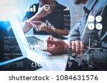 financial report data of...   Shutterstock . vector #1084631576