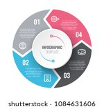 infographic template with... | Shutterstock .eps vector #1084631606