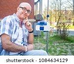 patient undergoing chemo... | Shutterstock . vector #1084634129