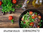 buckwheat salad with cherry... | Shutterstock . vector #1084639673