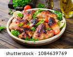 chicken wings of barbecue in... | Shutterstock . vector #1084639769