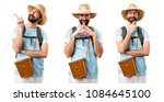 set of funny tourist thinking | Shutterstock . vector #1084645100
