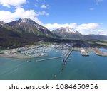 seward   alaska   small boat... | Shutterstock . vector #1084650956