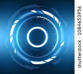 futuristic sci fi vr hud circle ... | Shutterstock .eps vector #1084653956
