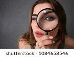 young beautiful woman portrait... | Shutterstock . vector #1084658546