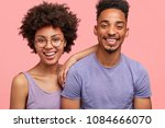 photo of delighted girlfriend... | Shutterstock . vector #1084666070