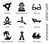 set of 9 simple editable icons... | Shutterstock .eps vector #1084671890