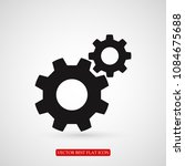 gears icon  stock vector... | Shutterstock .eps vector #1084675688