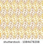 geometric trendy leaves vector... | Shutterstock .eps vector #1084678208