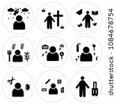 set of 9 simple editable icons... | Shutterstock .eps vector #1084678754