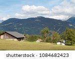 chalets in the heights of saint ... | Shutterstock . vector #1084682423