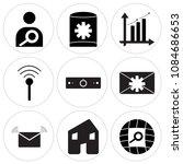 set of 9 simple editable icons... | Shutterstock .eps vector #1084686653