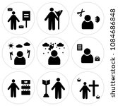 set of 9 simple editable icons... | Shutterstock .eps vector #1084686848