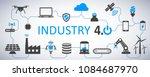 industry 4.0 infographic... | Shutterstock .eps vector #1084687970