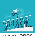 business people holding up the... | Shutterstock .eps vector #1084688060