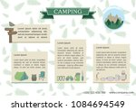 camping flyer template.vector... | Shutterstock .eps vector #1084694549