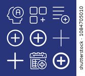 outline add icon set such as... | Shutterstock .eps vector #1084705010