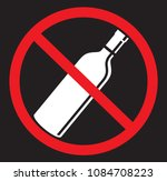 no alcohol drinking flat icon | Shutterstock .eps vector #1084708223