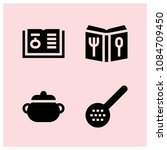 filled cook icon set such as...   Shutterstock .eps vector #1084709450