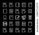 outline bookmark icon set such... | Shutterstock .eps vector #1084711574