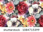 seamless pattern with... | Shutterstock . vector #1084715399