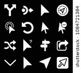 filled set of 16 arrows icons...   Shutterstock .eps vector #1084721384