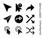 filled set of 9 arrows icons... | Shutterstock .eps vector #1084721408
