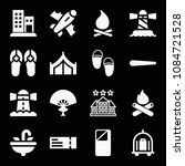 filled set of 16 holidays icons ...   Shutterstock .eps vector #1084721528