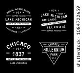chicago badge . chicago  lake... | Shutterstock .eps vector #1084722659
