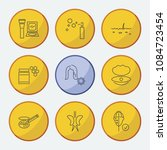 cosmetics icons set with...