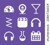filled set of 9 tool icons such ... | Shutterstock .eps vector #1084726019