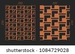 laser cutting interior set....   Shutterstock .eps vector #1084729028