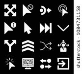 filled set of 16 arrows icons...   Shutterstock .eps vector #1084731158
