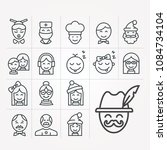 simple line icons of people | Shutterstock .eps vector #1084734104