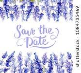 violet lavender. floral... | Shutterstock . vector #1084735469