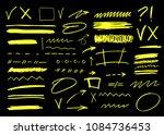 vector marker brush stroke....   Shutterstock .eps vector #1084736453