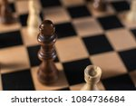 chess on chessboard close up | Shutterstock . vector #1084736684