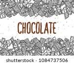 chocolate doodle background | Shutterstock .eps vector #1084737506