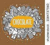 chocolate vector doodle... | Shutterstock .eps vector #1084737560