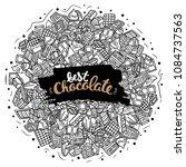 chocolate vector doodle... | Shutterstock .eps vector #1084737563