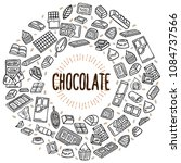 chocolate vector doodle... | Shutterstock .eps vector #1084737566