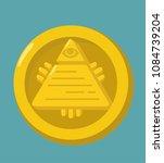 money gold coin icon. the coin... | Shutterstock .eps vector #1084739204