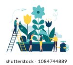 Vector Illustration Of Spring...