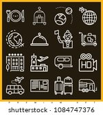 Set Of 16 Travel Outline Icons...