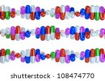 chain of pills on a white... | Shutterstock . vector #108474770