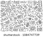 hand drawn photographic doodles ... | Shutterstock .eps vector #1084747739